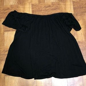 Off the shoulder black top size small